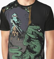 Vintage Knight Fighting A Dragon - Cool Funny Retro Cartoon T-shirts And Gifts Ideas Design Graphic T-Shirt