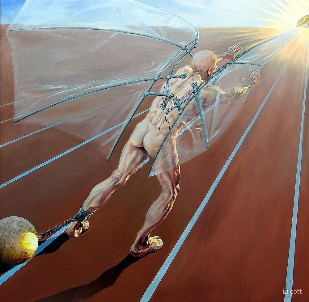 "Icarus II, ""A Cruel God"" by Ellcott"