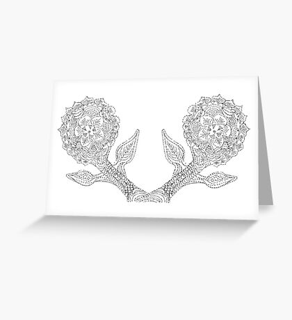 Dotted Flower Greeting Card
