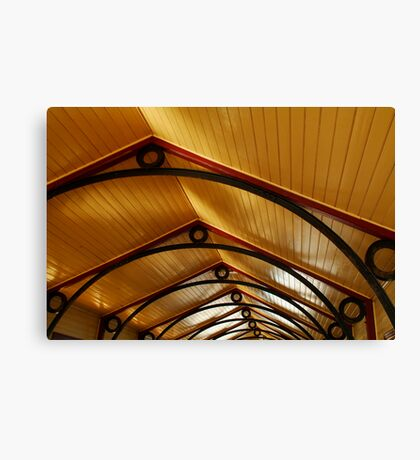 Above, Queenscliff Pier Shelter Shed Canvas Print