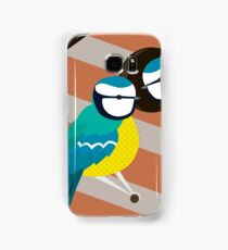 Blue Tits in Nesting Box Illustration Samsung Galaxy Case/Skin