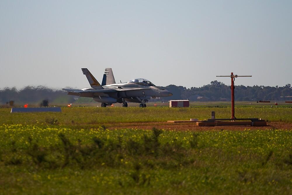 RAAF F18 Hornet by Peter Ede
