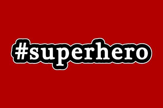 Superhero - Hashtag - Black & White by graphix