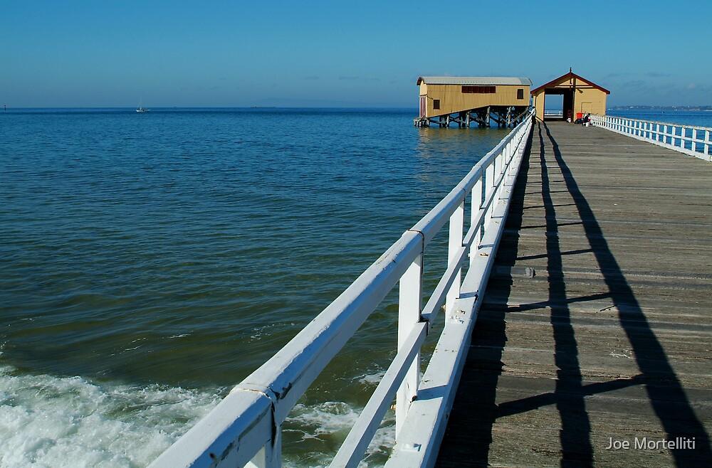Sunny Day, Queenscliff Pier by Joe Mortelliti