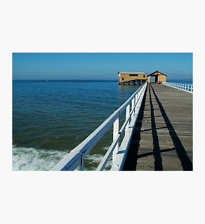 Sunny Day, Queenscliff Pier Photographic Print