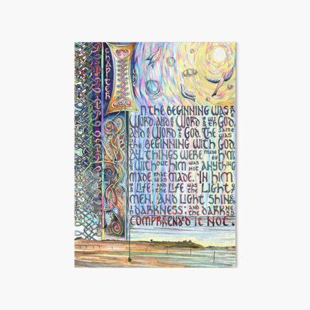 John 1 Art Board Print