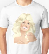 Farrah Fawcett White Head & Shoulders Unisex T-Shirt