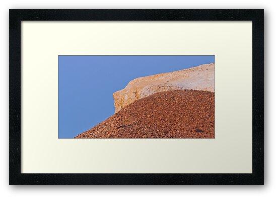 Ochre hills at dusk by David Burren