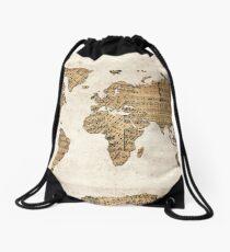 world map music notes 5 Drawstring Bag