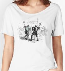 Knights Fight - Cool Sketchy Vintage Drawing Of Medieval Knight Battle  Women's Relaxed Fit T-Shirt