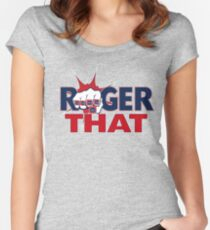 Tom Brady Roger That Women's Fitted Scoop T-Shirt