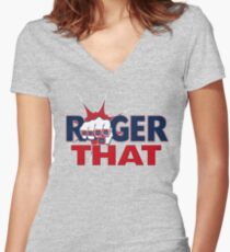 Tom Brady Roger That Women's Fitted V-Neck T-Shirt