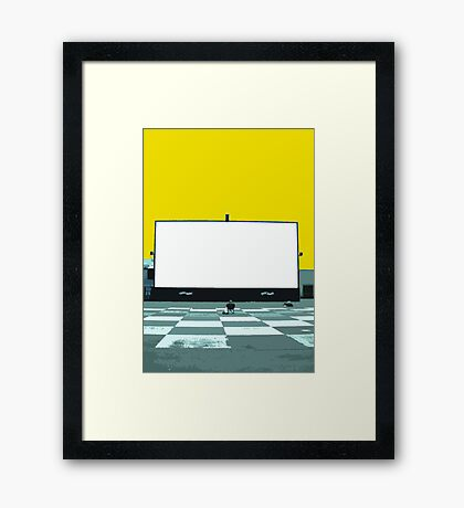 lonely screen Framed Print