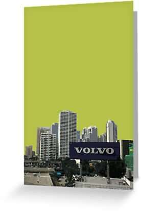 green volvo by Yuval Fogelson