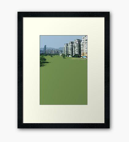 hong kong green Framed Print