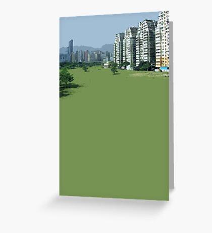 hong kong green Greeting Card