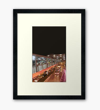 hong kong walkway Framed Print