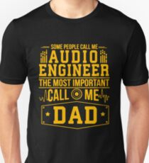 Audio Engineer Dad T-Shirt