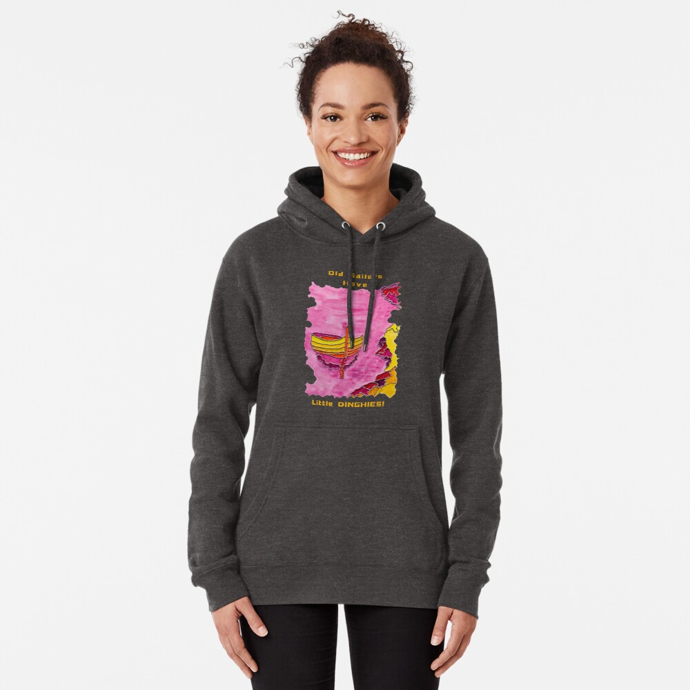 SAILING DINGHY CUTE NAUTICAL OLD SAILORS Pullover Hoodie