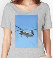 CH-46 Sea Knight in flight Women's Relaxed Fit T-Shirt