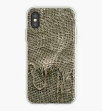 Burlap Sack Texture iPhone Case