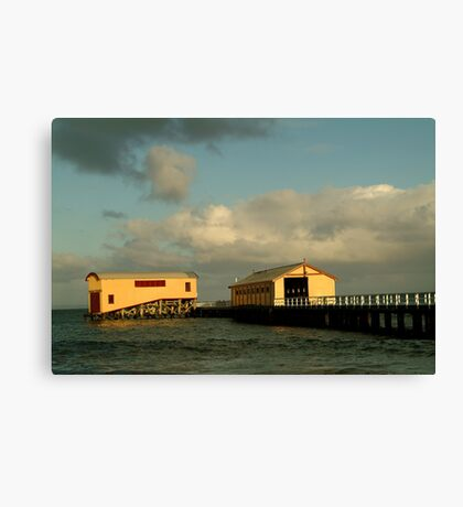 Passing Storm, Queenscliff Pier Canvas Print