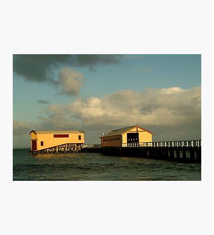 Passing Storm, Queenscliff Pier Photographic Print