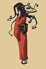 Yokai Woman Futakuchi-onna MONSTER GIRLS Series I by angelasasser