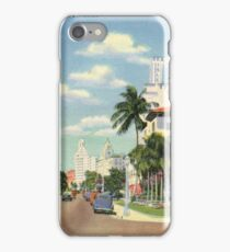 Exclusive Hotels on Collins Avenue, Miami Beach, Florida Vintage Postcard iPhone Case/Skin
