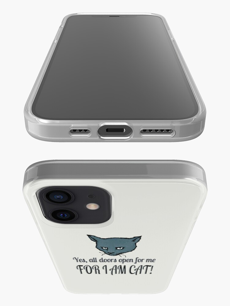 Alternate view of Yes, all doors open for me, FOR I AM CAT! iPhone Case & Cover