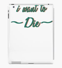 Hipster ironic sucide iPad Case/Skin