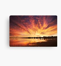Splendour Of Dawn - Lake Albert, Meningie Canvas Print