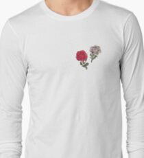 Red and White Roses  Long Sleeve T-Shirt