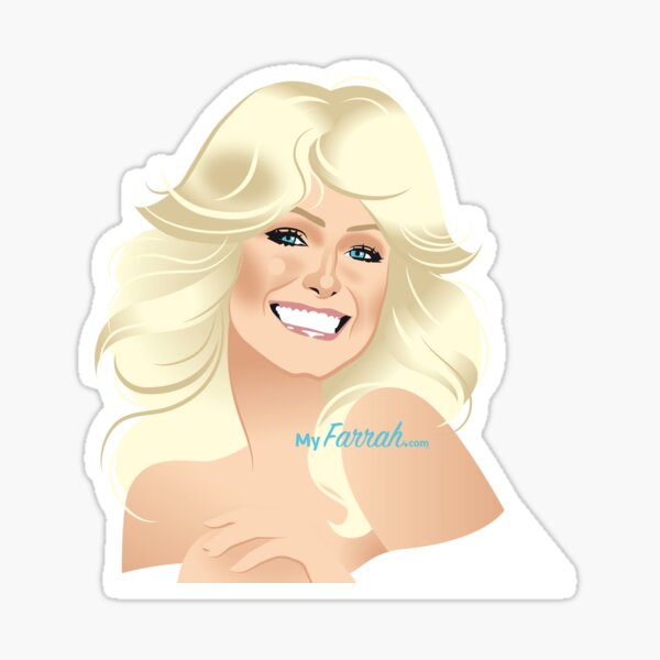 Farrah White Head & Shoulders Sticker