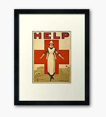 Nurse WWII Framed Print