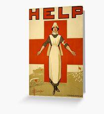 Nurse WWII Greeting Card
