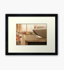Discussion on 31st Street Framed Print