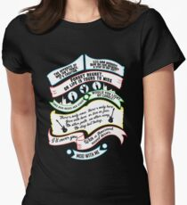 Rent Quotes Womens Fitted T-Shirt