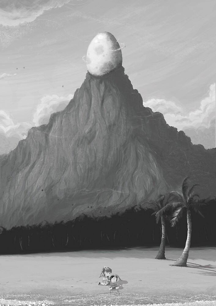 The Egg on the Mountain  by orioto