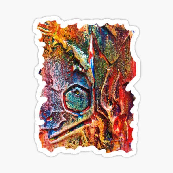 COLOURFUL TEXTURED GEOMETRIC STEAMPUNK ABSTRACT Sticker