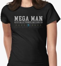 Mega Man - Vintage - Black Womens Fitted T-Shirt