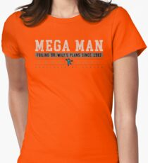 Mega Man - Vintage - Black Womens Fitted T-Shirt
