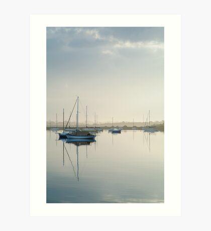 Misty Morning, Swan Bay Queenscliff Art Print