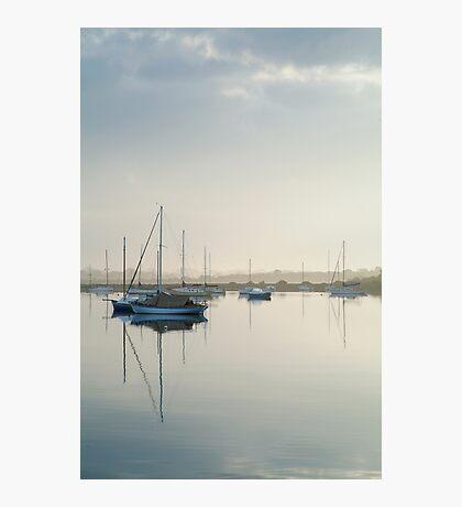 Misty Morning, Swan Bay Queenscliff Photographic Print