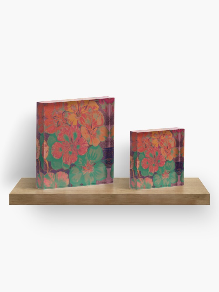 Alternate view of Retro Floral IV Acrylic Block