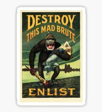 Enlist WWII Sticker