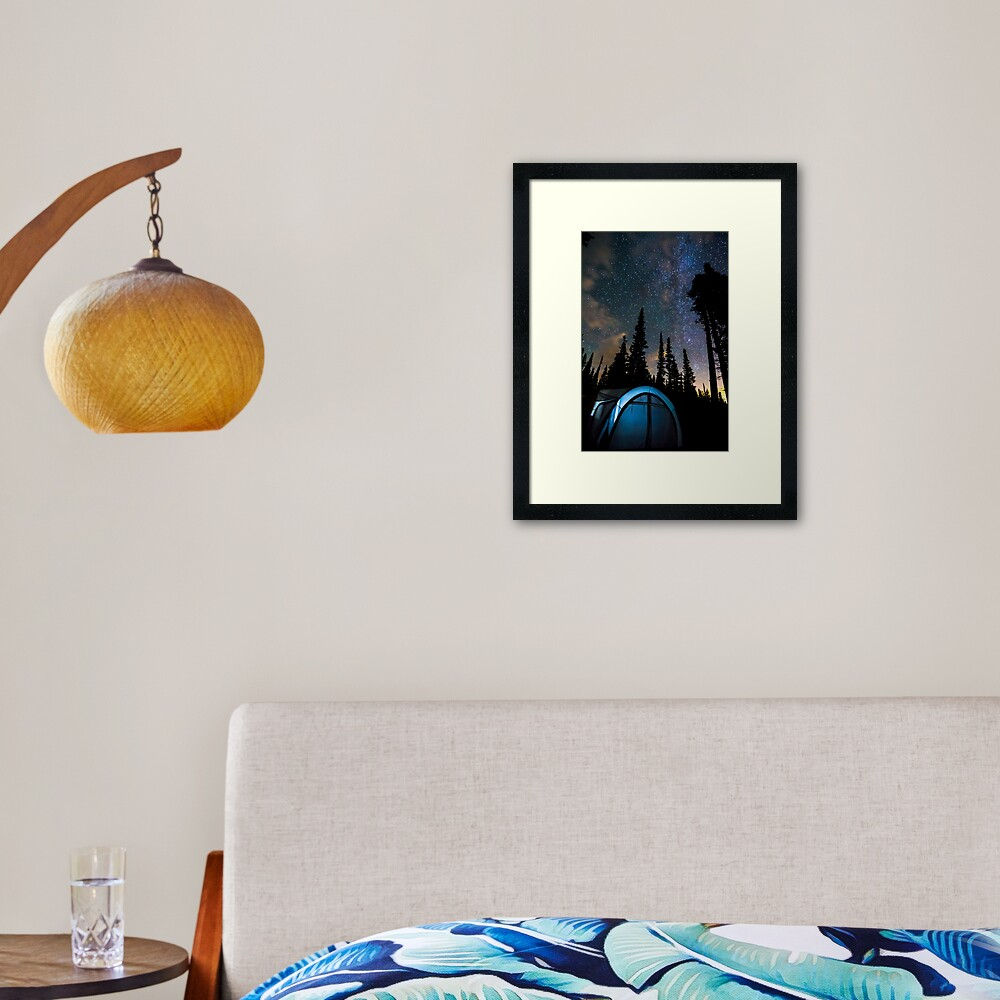 Camping Star Light Star Bright Framed Art Print