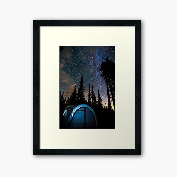 Camping Star Light Star Bright Framed Art Print