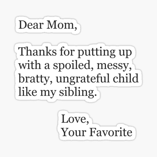 Mothers Day Ideas and Funny Mom Christmas Cards & Gifts for Christmas & Birthday Sticker