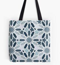 Grey Oriental Pattern Tote Bag